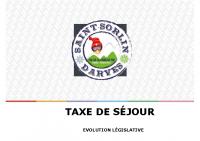 presentation nouveautes legislatives taxe de sejour 2019